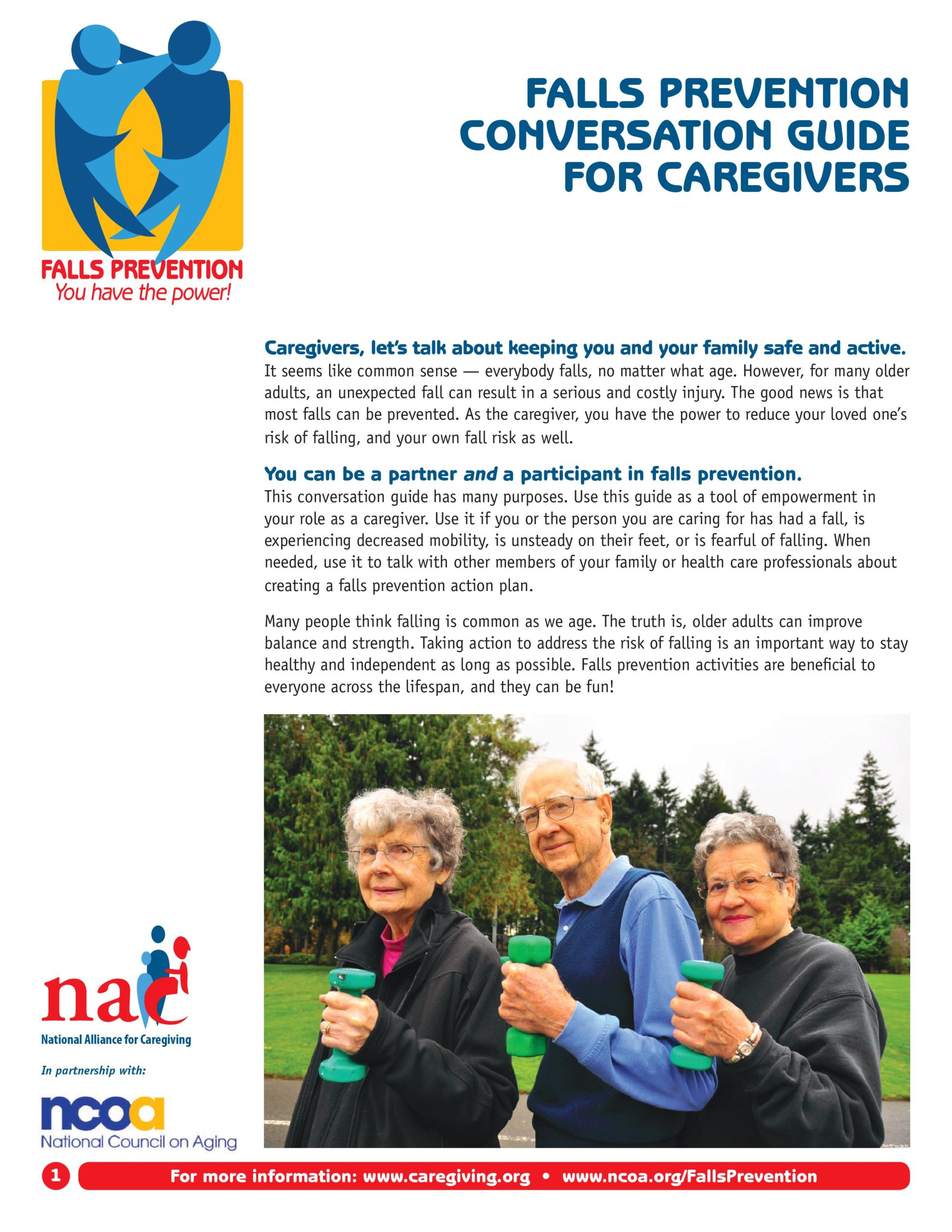falls prevention conversation guide
